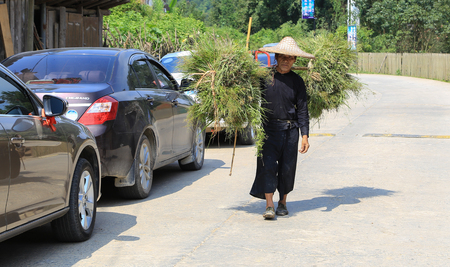 miao: man in baSha miao village ,guinzhou province,china