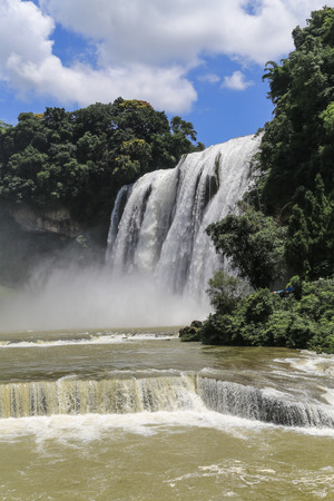 prov�ncia: huangguoshu waterfall in guizhou province,china