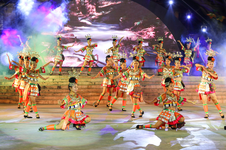 miao: the performance in xijiang miao village,guizhou,china Editorial