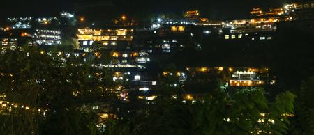 miao: the night scene in xijiang miao village,guizhou,china