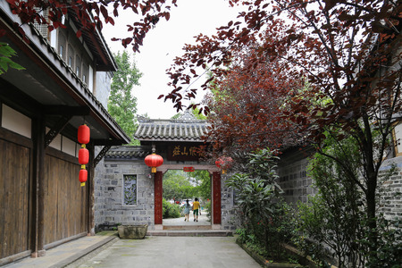 sichuan province: haiwozi ancient town in sichuan province,china