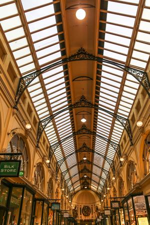 arcade: oyal arcade in melbourne,australia Editorial