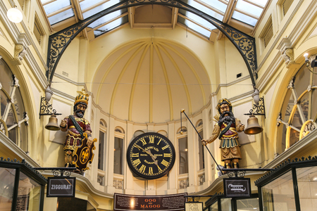 melbourne australia: the sculpture in royal arcade,melbourne,australia