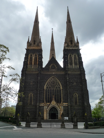 melbourne australia: st.paul cathedral in melbourne,australia