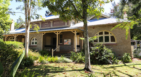 old architecture: the old architecture in bellingen town,australia