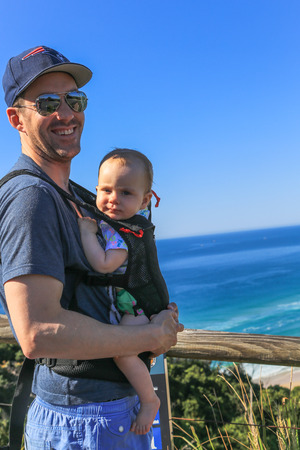 byron: father and son in cape byron,australia