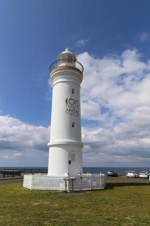kiama: the lighthouse in kiama town,australia
