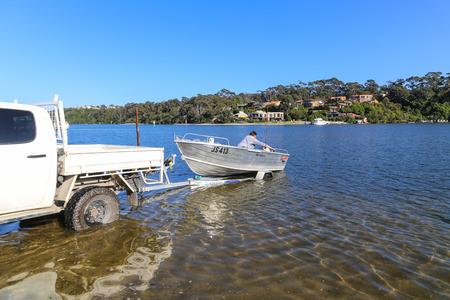motor boat: the motor boat in malllacooto natural protection area,australia