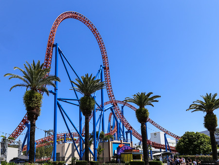 roller coaster in warner bros movie world,gold coast,australia
