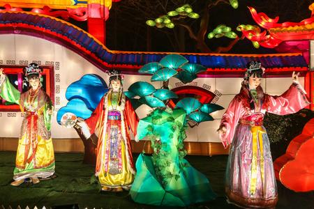 chengdu: lantern show in chengdu,china