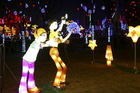 chengdu: 2016 lantern festival in chengdu,china