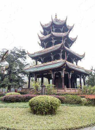 chengdu: wangjiang park in chengdu,china