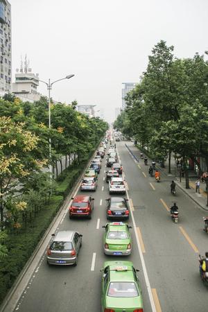 chengdu: transport in chengdu,china Editorial