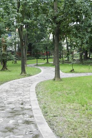 chengdu: a park in chengdu,china Stock Photo
