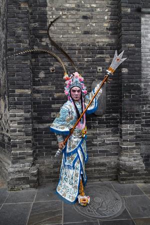 chengdu: chinese opera figure in chengdu,china Editorial
