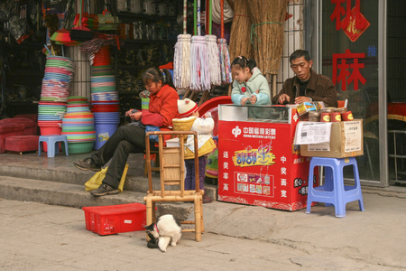 store keeper: grocery store in chengdu,china