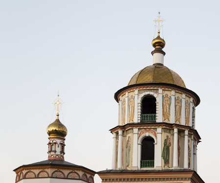 the federation: the church in in Irkutsk ,russian federation Stock Photo
