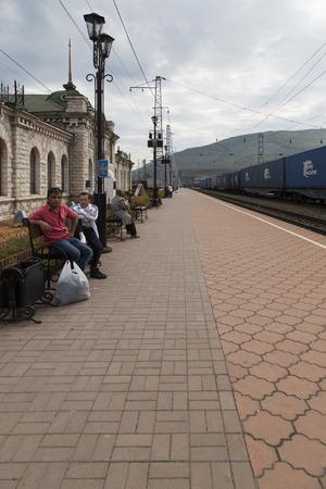 the federation: sludyanka railway station in russian federation