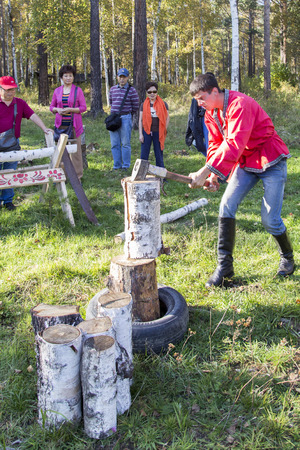 the federation: wood-chopping performance in russian federation