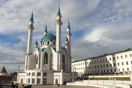 kazan: kul sharif mosque in  kremlin,kazan,russian federation