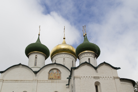 the church in savior monastery of st.euthymias ,suzdal,russia