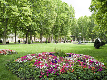 city park in  Zagreb, Croatia