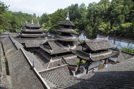 The architecture in tusi city,enshi,hubei province