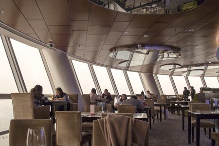 Revolving restaurant in the tallest tower ,chengdu,china