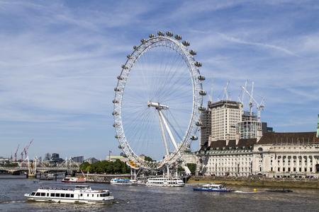 The london eye in london