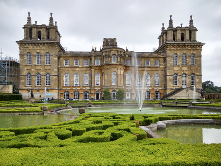 The landscape in blenheim palace,london 報道画像