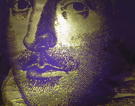 Portrait of Shakespeare in the museum of stratford,london