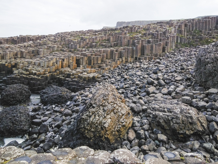 The landscape in giants causeway , northern ireland