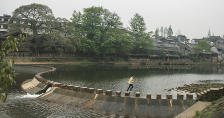 The landscape in ancient town of liujiang ,sichuan,china