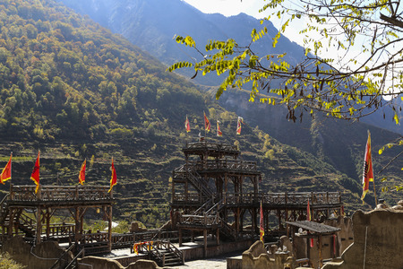 The landscape in turnip village,sichuan,china