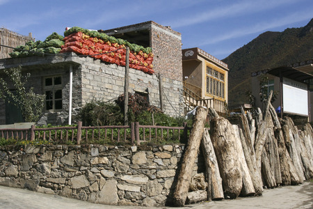 Turnip village in sichuan,china
