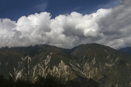 The mountain landscape in turnip village,sichuan,china