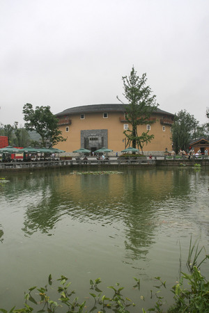 Earth building in luodai ancient town,china