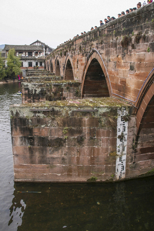 Ancient bridge in pingle ancient town , china