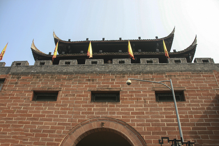 Lin quong ancient town in china 스톡 콘텐츠