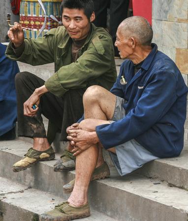 Shangli ancient town in sichuan,china 에디토리얼