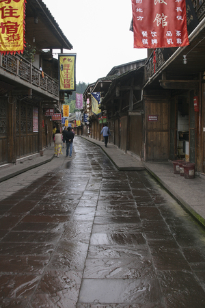The landscape in shangli ancient town,sichuan,china 에디토리얼
