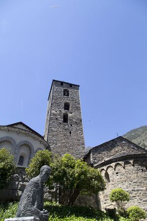St. Estevan Church in andorra 스톡 콘텐츠