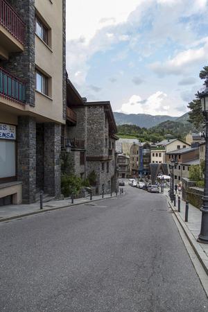 The cityscape in andorra