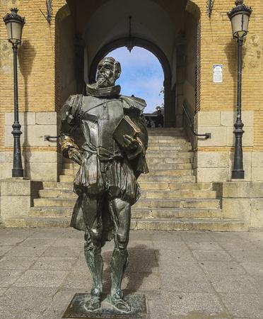 The sculpture of cervantes in toledo,spain Editorial