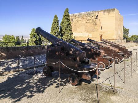 Artillery in alhambra palace , granada,spain