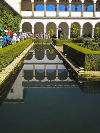 The garden in alhambra palace , granada,spain Editorial