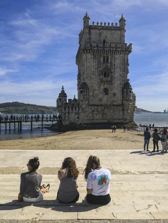 Tower of belem in lisbon,portugal Redakční