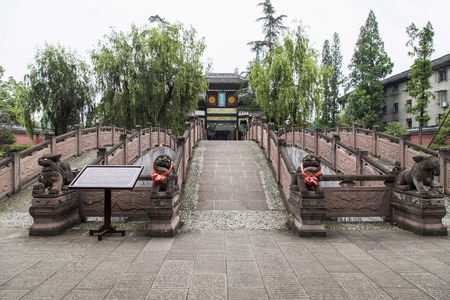 chongning confucius temple in tangchang town, sichuan, china,