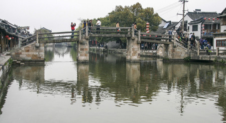 landscape in the ancient town of xitang, china