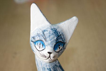 wooden cat photo